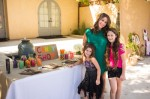 Pregnant Soleil Moon Frye with her girls Poet and Jagger at her book release Party