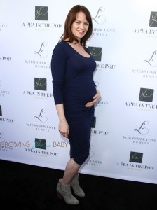 Pregnant Sprague Grayden at the launch of Jennifer Love Hewitt maternity collection