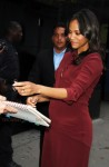Pregnant Zoe Saldana @ Good Morning America