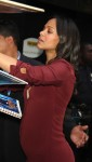 Pregnant Zoe Saldana at Good Morning America