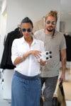 Pregnant Zoe Saldana & husband Marco Perego out in LA