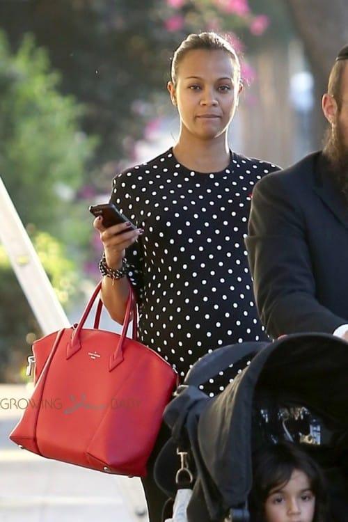 Pregnant Zoe Saldana out in LA