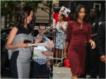 Pregnant Zoe Saldana out in NYC
