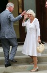 Prince Charles, Prince of Wales and Camilla, Duchess of Cornwall seen arriving at St