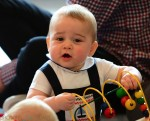 Prince George plays at New Zealand playgroup