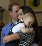 Prince George with Parents Kate & William at NZ playgroup