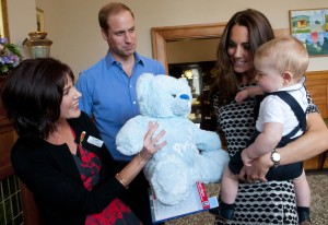 Prince George with Parents Kate and William at NZ playgroup