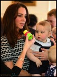 Prince George with Parents Kate and William at New Zealand playgroup
