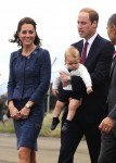 Prince William, Catherine & their son Prince George  at Wellington airport