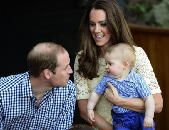 Prince William, Catherine with their son Prince George in the Bilby Enclosure at Taronga Zoo, Sydney