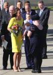 Prince William, Catherine(kate) & their son Prince George disembark at Sydney airport