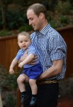 Prince William with  son Prince George in the Bilby Enclosure at Taronga Zoo