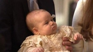 Prince george before his Christening