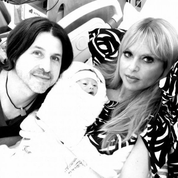 Rachel Zoe and Roger Berman with baby Kaius Jagger Berman