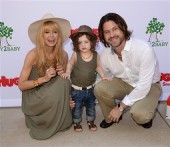 Rachel Zoe and Roger Berman with their son Skyler at the Baby2Baby event in LA
