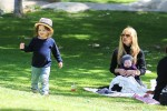 Rachel Zoe at the park with her sons Skyler & Kaius