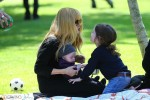 Rachel Zoe at the park with her sons Skyler and Kaius