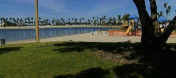 Razor blades found in the grass Bonita Cove Park San Diego