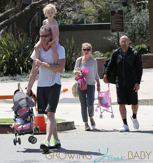 Rebecca Gayheart Brings the Girls to Dad's Park Workout