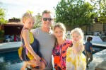Rebecca Gayheart and Eric Dane with their daughters Billie and Georgia at Soleil Moon Frye's book release Party