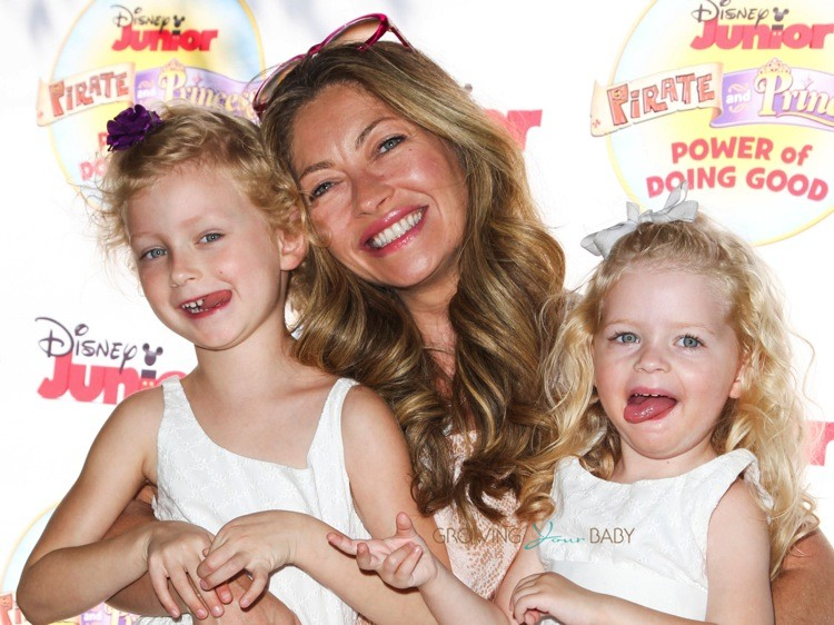 "Rebecca Gayheart and daughters Billie and Georgia at Disney Junior's ""Pirate and Princess Power of Doing Good"" tour"