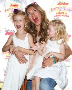 """Rebecca Gayheart and daughters Billie and Georgia at Disney Junior's """"Pirate and Princess Power of Doing Good"""" tour"""