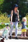 Rebecca Gayheart at the park with daughter Georgia