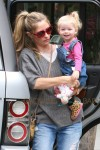 Rebecca Gayheart and Eric Dane take their daughters out for breakfast in Los Angeles
