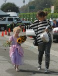 Rebecca Gayheart with daughter Billie at the market