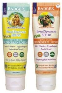 Recalled Badger SPF 30 Baby Sunscreen