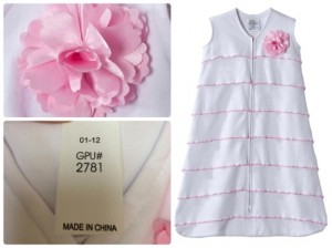 Recalled HALO® SleepSack® Wearable Blankets with Pink Satin Flowers