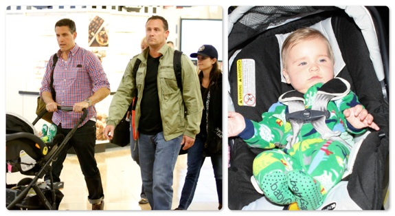 Reese Witherspoon and Jim Toth at LAX with their son Tennessee