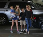 Reese Witherspoon shops in LA with her three children Deacon, Tennessee and Ava