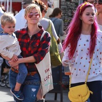 Reese Witherspoon Visits The Market With Her Family