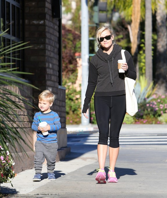 Reese Witherspoon out with her son Tennessee in LA