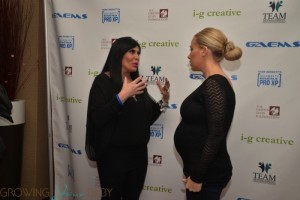 Renee Graziano and a Pregnant Kendra Wilkinson chat at the Celebrity GAEMS Pro XP Event in NYC
