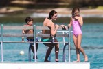 Rhea Durham in Barbados with kids Michael and Ella