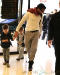 Ricky Martin departs Sydney Airport with his two sons