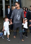 Ricky Martin & Sons Arrive Into Sydney Airport
