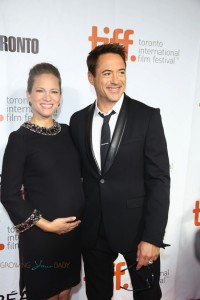Robert and a pregnant Susan Downey at the premiere of The Judge TIFF