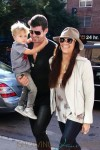 Robin Thicke and his family return to their Downtown hotel in New York City
