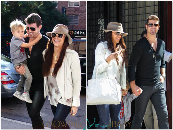 Robin Thicke and Paula Patton Step out with their son Julian in NYC