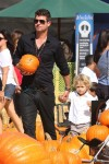 Robin Thicke and son Julian at Mr. Bones Pumpkin Patch