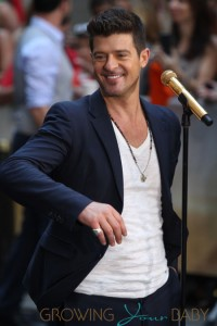 Robin Thicke performs during the NBC Toyota Concert Series on the 'Today' show at Rockefeller Center