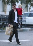 Robin Thicke shops with his son Julian at Bristol Farms