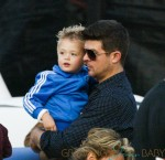 Robin Thicke and family enjoy a fun day at Mr. Bones Pumpkin Patch in West Hollywood