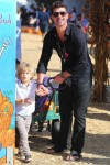 Robin Thicke with son Julian at Mr. Bones Pumpkin Patch