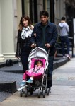 Ron livingston with wife Rosemarie Dewitt out in SoHo with their daughter Gracie