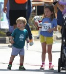 "Samuel and Seraphina Affleck at the 2nd annual ""Home Run For Kids"" race"