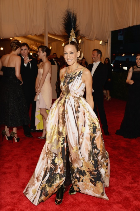 Sarah Jessica Parker at the 2013 Met Gala at Metropolitan Museum of Art
